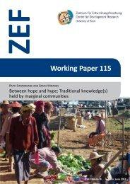 Working Paper 115 - ZEF