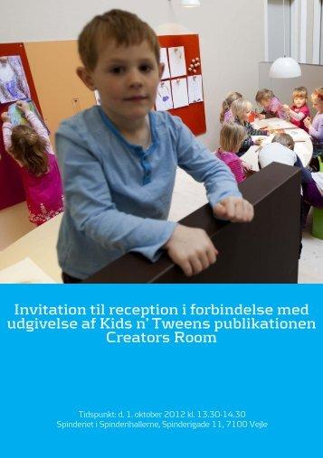 Invitation til reception i forbindelse med udgivelse af Kids n' Tweens ...