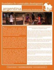 Argentina - community development - Foundation for Sustainable ...