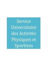 Service Universitaire Des Activitãs Physiques Et Sportives