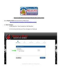 Team Competition Participant Registration Instructions