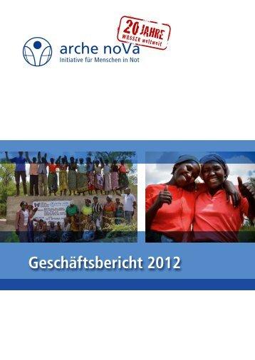 Geschäftsbericht 2012 - arche noVa e.V.