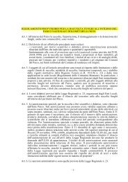 Regolamento raccolta funghi - Parco Nazionale Dolomiti Bellunesi