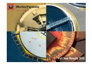 Full Year Results 2010 - WorleyParsons.com