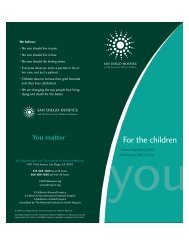 For the children - San Diego Hospice and the Institute for Palliative ...