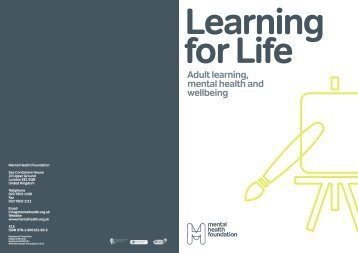 for Life Adult learning, mental health and wellbeing