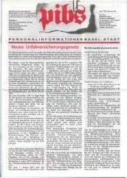 Neues Unfallversicherungsgesetz - Regierungsrat - Basel-Stadt
