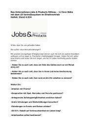 Das Unternehmen Jobs & Products Hittnau – in Ihrer Nähe mit dem ...