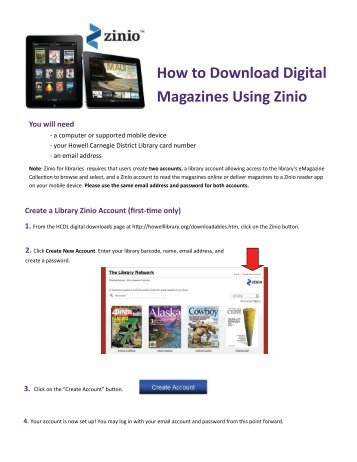 How to Download Digital Magazines Using Zinio - Howell Carnegie ...