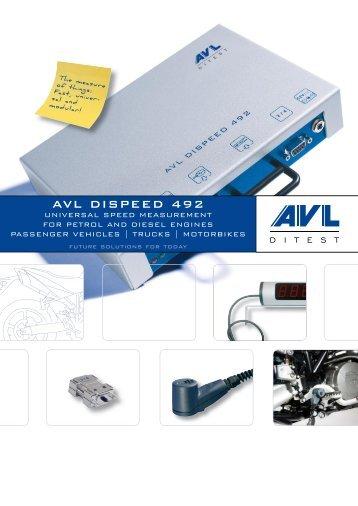 AVL DiSpeed 492 Product Brochure - AVL DiTEST