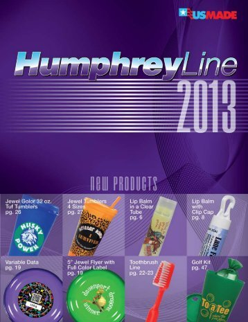 Download the 2013 Catalog (PDF) - HumphreyLine