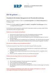 Checkliste bei einem WKV-Schaden - Heyd, Reims & Partner GmbH ...