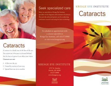 Cataracts - Kresge Eye Institute
