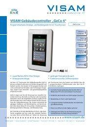 """1 VISAM Gebäudecontroller """"GeCo 4"""" - VISAM GmbH"""