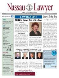Lawyers Saving Lives - Nassau County Bar Association