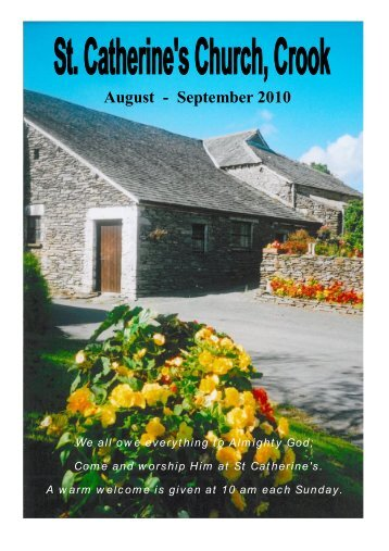 Crook Magazine 2010 08-09.pdf - The Parish of Crosthwaite and Lyth