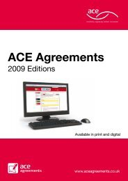ACE Agreements - Association for Consultancy and Engineering