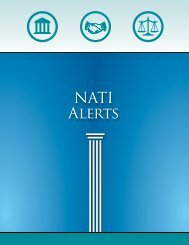 NATI Alerts - The National Association of Triads