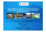 Spatial integration of sensors and other data streams provides real ...