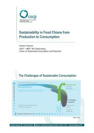 Sustainability in Food Chians from Production to ... - Messe Düsseldorf