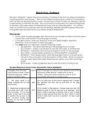 Dialectical Journals (handout)