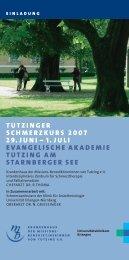 tutzinger schmerzkurs 2007 29.juni – 1. juli evangelische ... - DGPSF