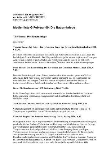 Franz, Günther: Der deutsche Bauernkrieg, (12 - G/Geschichte