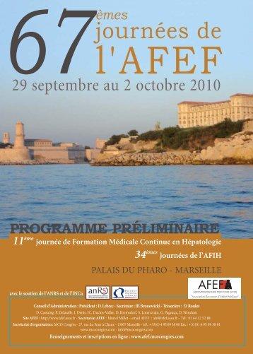 programme préliminaire - Afef