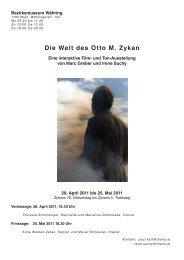 Die Welt des Otto M. Zykan - Irene Suchy