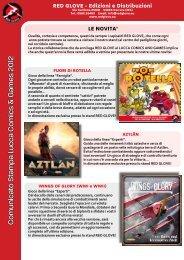 Novità, ospiti e programma Red Glove - Lucca Comics & Games 2012