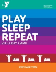 2013 DAY CAMP - YMCA of Greater Charlotte