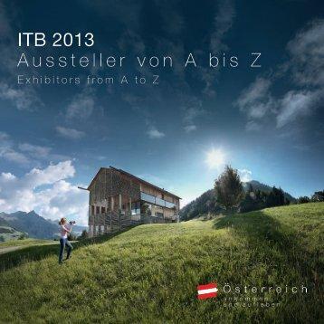 Ausstellerverzeichnis_ITB - Newsroom der Österreich Werbung