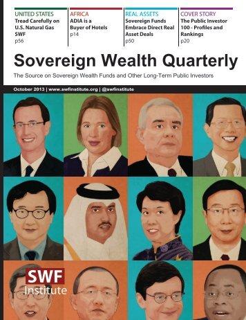 Sovereign Wealth Quarterly - Sovereign Wealth Fund Institute
