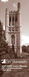 Fall 2012 - New Jersey City University