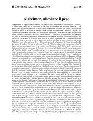 Alzheimer, alleviare il peso - CSV Aurora Crotone