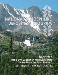 National Atmospheric Deposition Program 2007