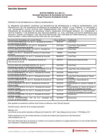 Prospecto de Información al Público Inversionista - Fondos Mexicanos