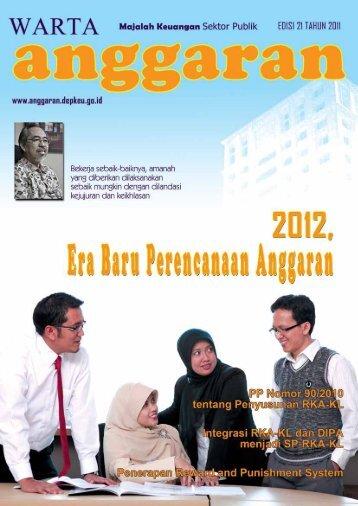Majalah Warta Anggaran Edisi 21 - Direktorat Jenderal Anggaran ...
