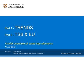 Research - Trends and Developments