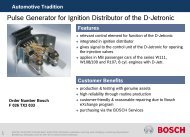 Pulse Generator for Ignition Distributor of the D-Jetronic - Bosch ...