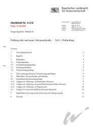 Teil 1 - des Bayerischen Landesamt für Umwelt - Bayern