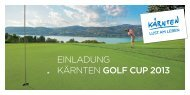 EINLADUNG KÄRNTEN GOLF CUP 2013 - Seeleitn