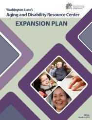 Washington State ADRC Expansion Plan - Aging and Long-Term ...