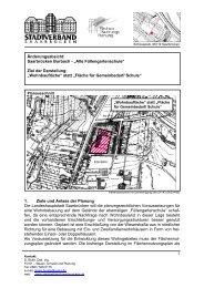 1. Ziele und Anlass der Planung Die Landeshauptstadt Saarbrücken ...