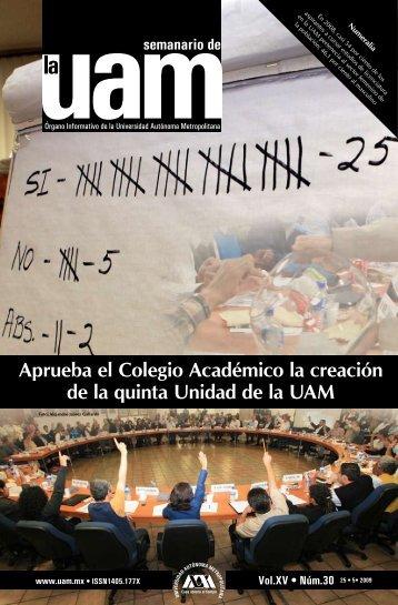 Aprueba el Colegio Académico la creación de la quinta Unidad de ...