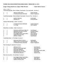 WCMHC WILD ROSE MINIATURE HORSE SHOW, AMHR JUNE 22 ...