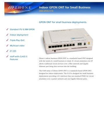 Download ZNID-GPON-5110 Datasheet