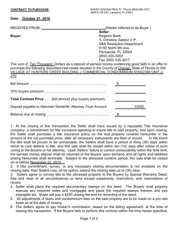 Blank Contract For Sale And Purchase  Blank Purchase Contract