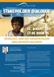 Stakeholders poster - World Water Week