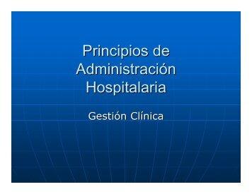Principios de Administración Hospitalaria